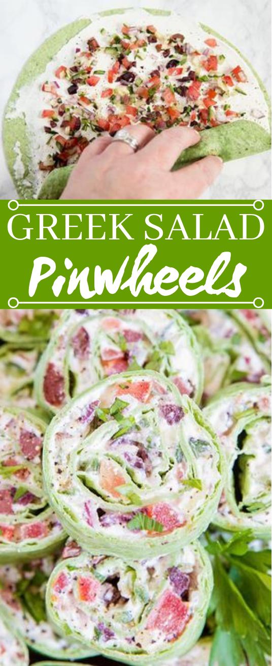 Greek Salad Pinwheels #appetizers #keto