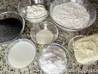 Cornulete cu mac - ingredientele necesare pentru reteta