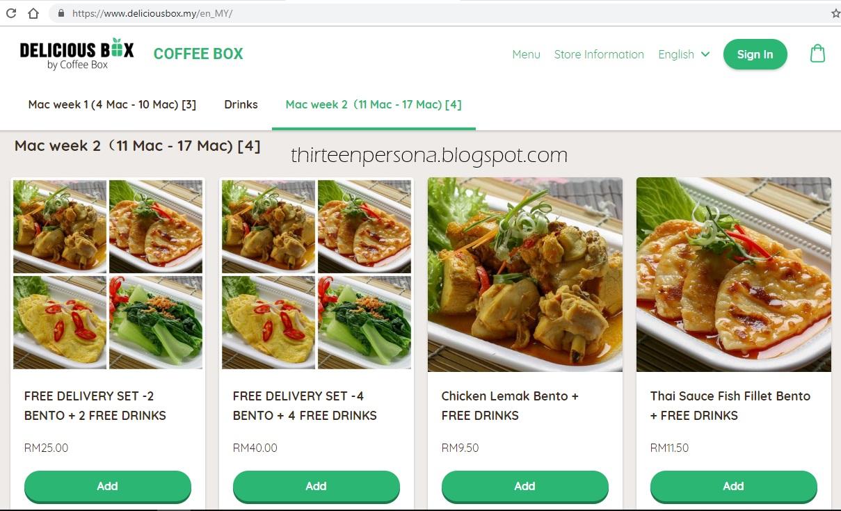 Thirteen Persona Deliciousbox My Food Delivery Murah Senang
