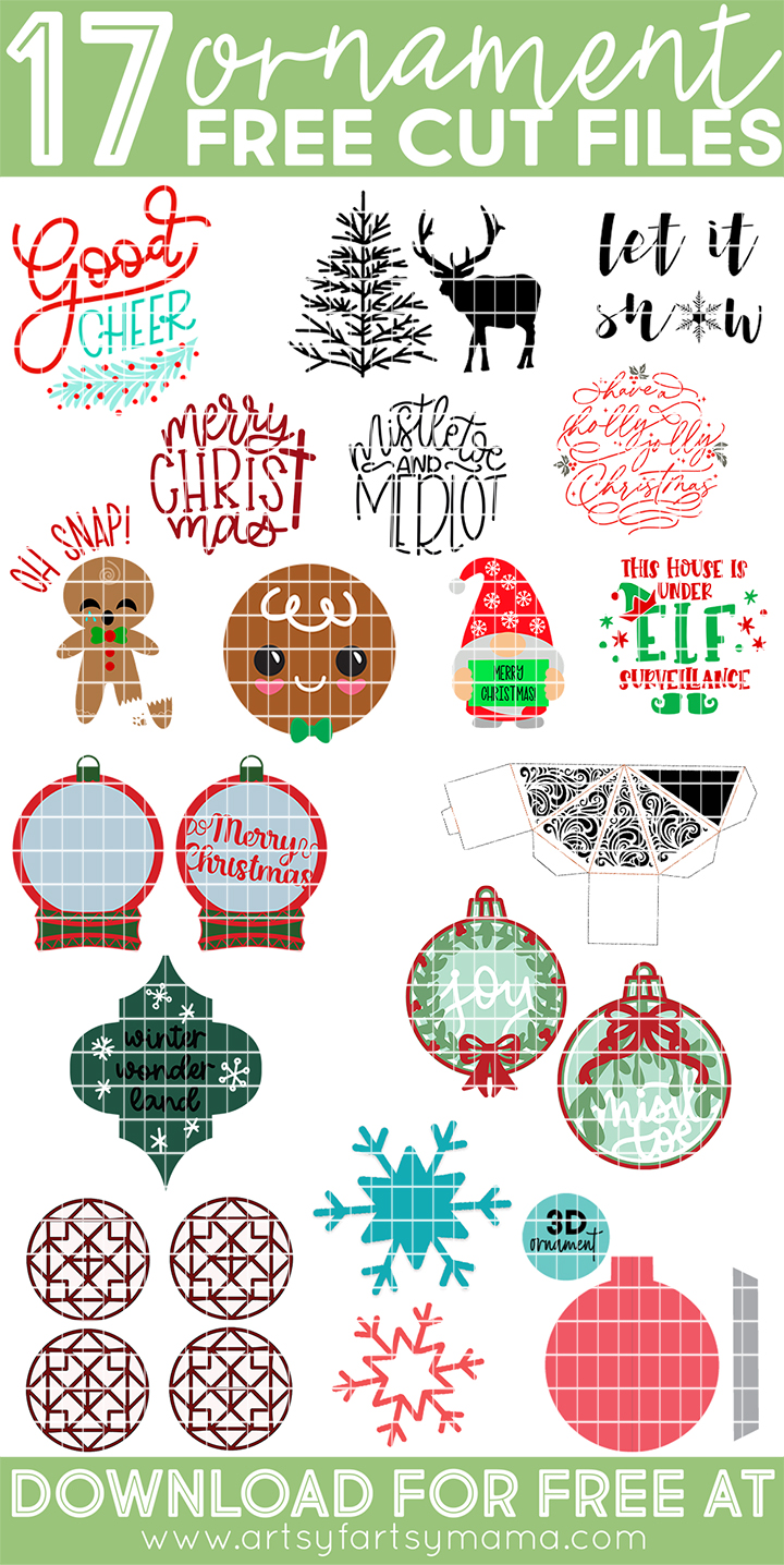 17 Free Ornament Cut Files