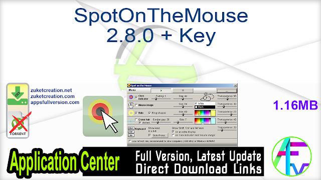 SpotOnTheMouse 2.8.0 + Key