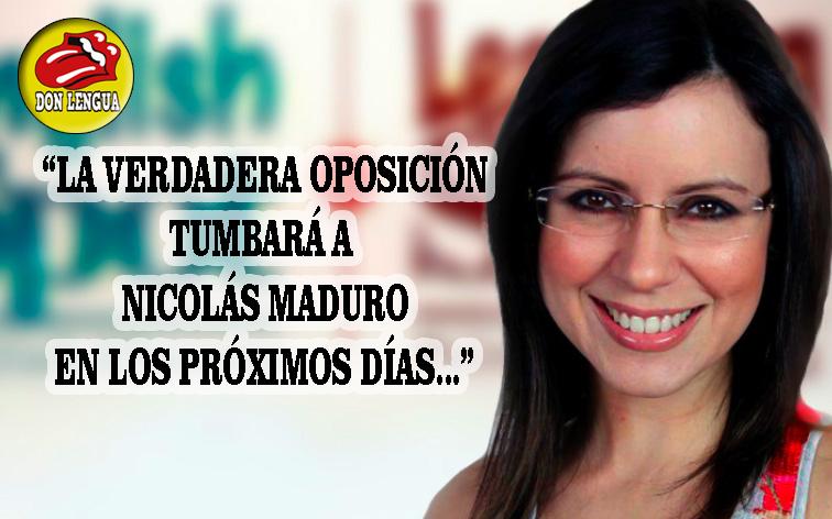 Carla Angola anuncia nuevamente que la verdadera oposición tumbará a Maduro en muy pronto