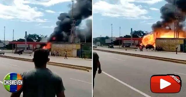 Varias personas quemadas tras explotar una estación de servicio en Barcelona