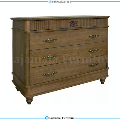 Set Tempat Tidur Minimalis Jati Natural Design Back To Forest RM-0293