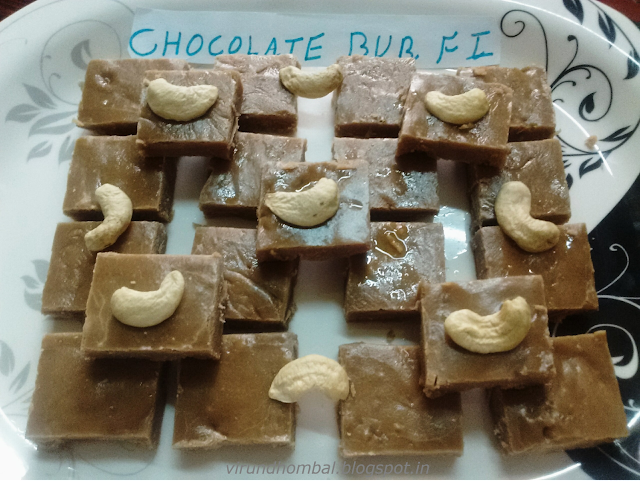 How to prepare Chocolate Burfi