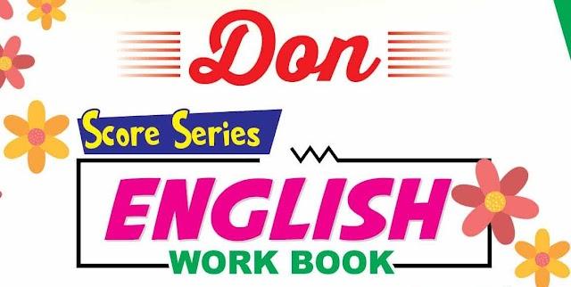 10ம் வகுப்பு English பாடத்திற்கு Don நிறுவனம் வெளியிட்டுள்ள Workbook