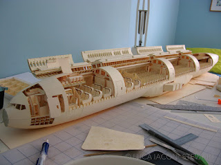 Man spends 10 years building a fully-loaded Boeing-777 aircraft out of paper
