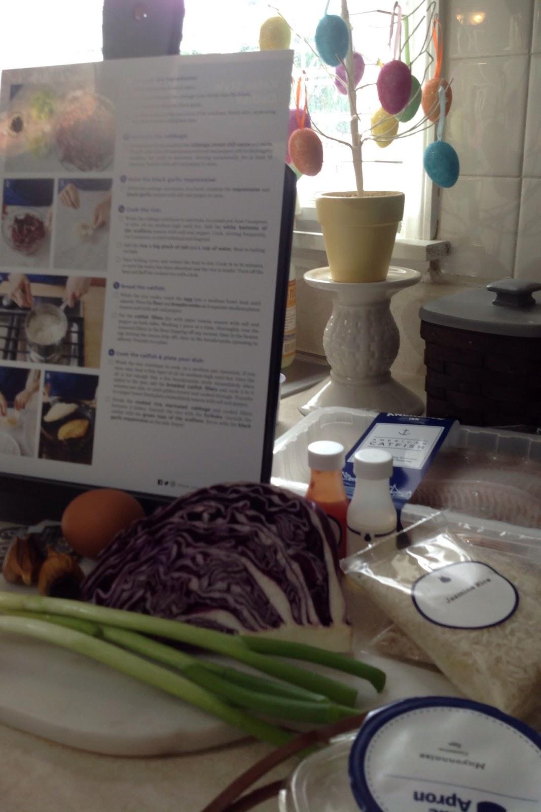 Blue apron katsu catfish - Katsu Style Catfish W Black Garlic Mayo Jasmine Rice