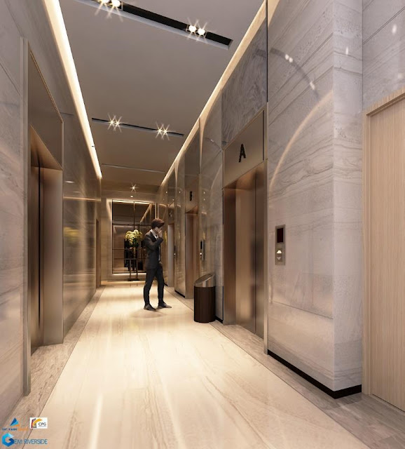 Tiền sảnh sang trọng và thang máy cao cấp01