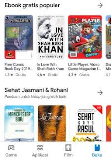 cara download buku di google book android