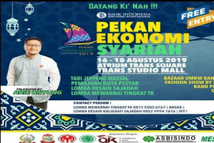 Today Sharia Economy Week Opens at Trans Studio Mall, here is the List of Events