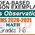 Sample Lesson Exemplars in Mathematics  Grades 1-6  Q2