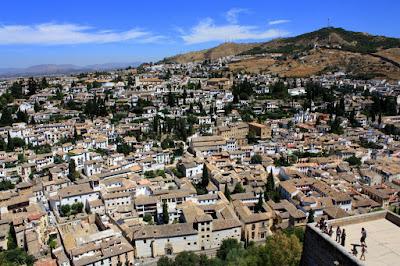 Albaicín from La Alhambra de Granada