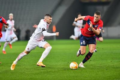 ملخص واهداف مباراة ميلان وليل (1-1) الدوري الاوروبي