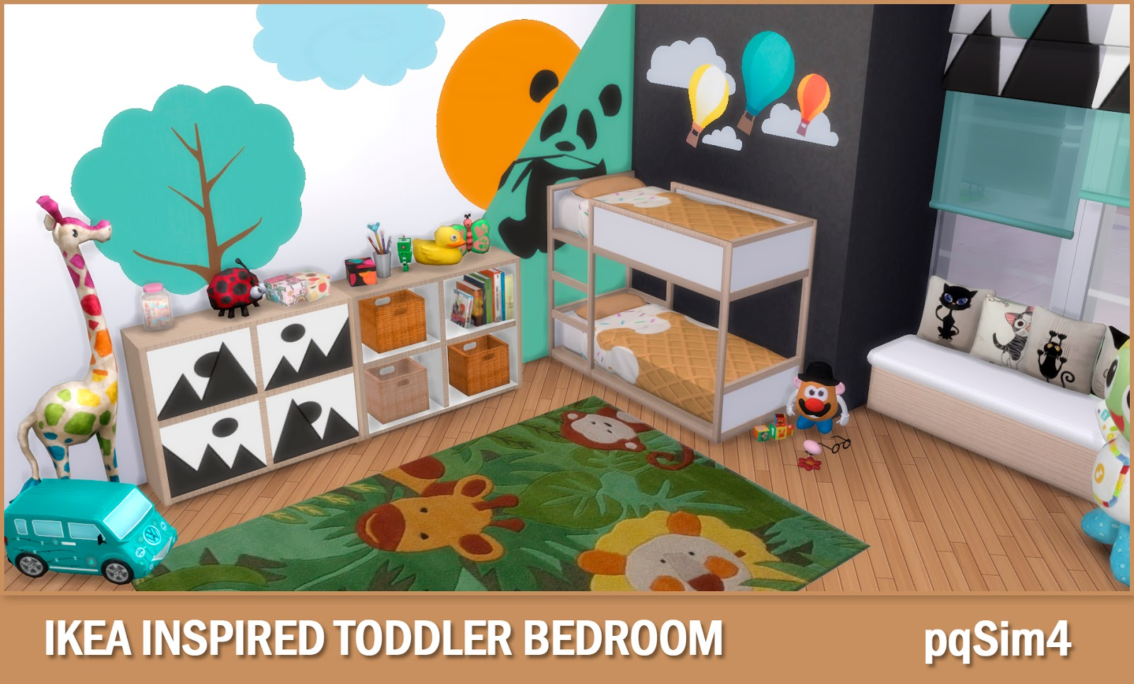 Ikea Inspired Toddler Bedroom Sims 4 Custom Content