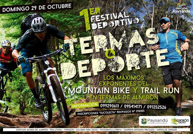 Festival deportivo Termas & Deporte (MTB y trail run; Termas de Almirón - Paysandú, 29/oct/2017)