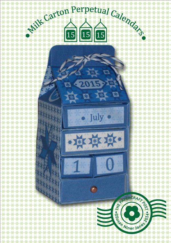 Perpetual Calendar Pattern Paper Craft