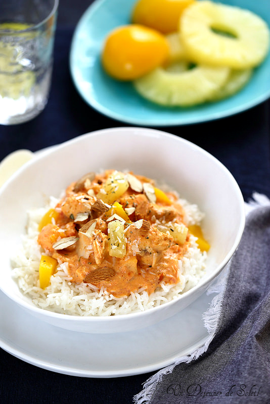 Curry de saumon (ou de poisson) aux fruits