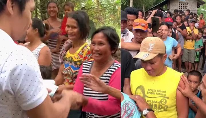 "Manny Pacquiao hands out ""balato"" to people of Sarangani"