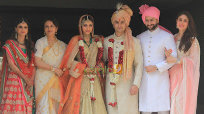 Bride Soha Ali Khan and Kunal Khemu