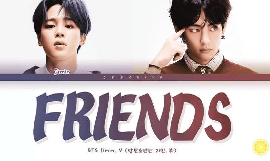 lirik friends terjemahan bts