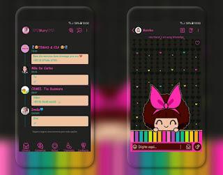 Girls Black Theme For YOWhatsApp & Fouad WhatsApp By Mary Silva