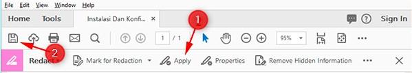 cara menghilangkan kata di pdf