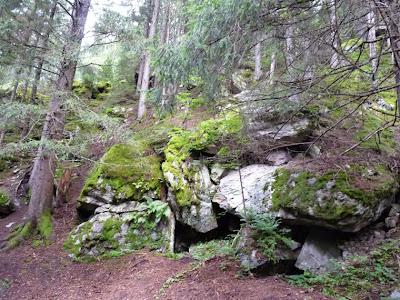 シャモニー渓谷のハイキングコース プティ・バルコン・シュッド