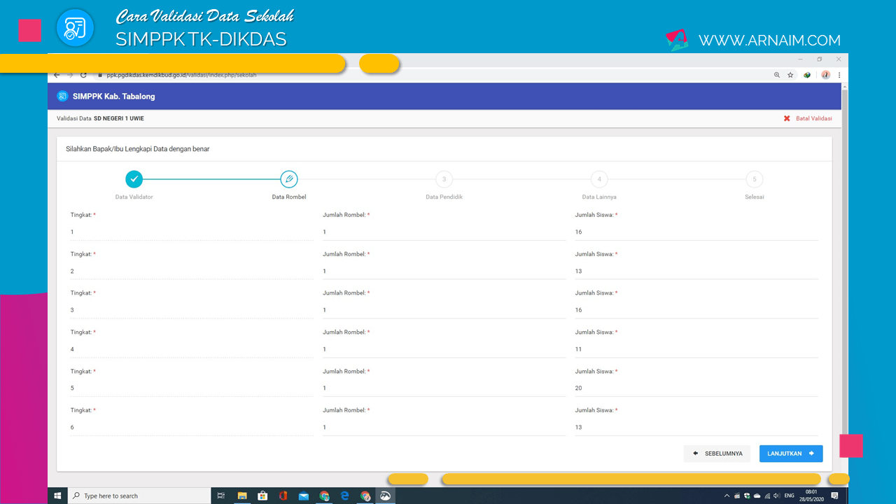 CARA VALIDASI DATA SEKOLAH SIMPPK TK-DIKDAS - ARNAIM.COM (5)