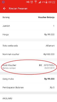 Kupon Gratis dari Akulaku dengan Voucher Alfamart
