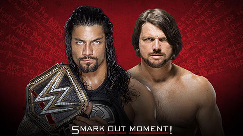 WWE Extreme Rules 2016 AJ Styles vs Roman Reigns