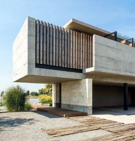 desain rumah minimalis melayang