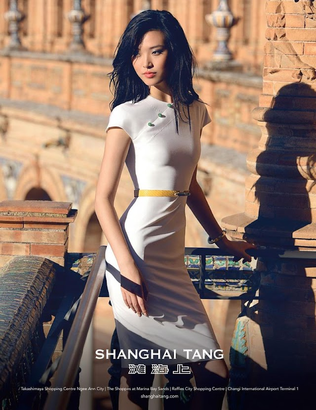 AD CAMPAIGN: Tian Yi and Dae Na for Shanghai Tang, Spring/Summer 2016