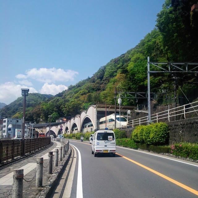 東海道 国道1号 箱根湯本駅