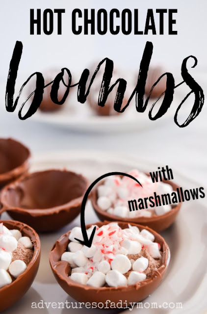 hot chocolate bombs filled with cocoa mix and marshmallows