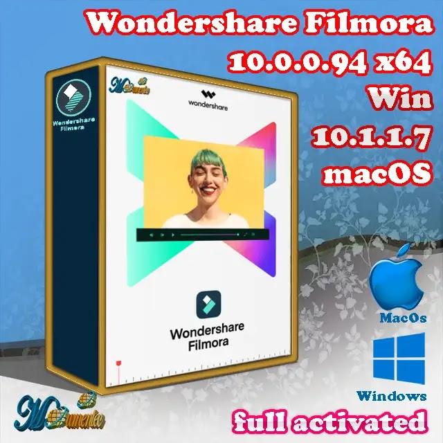 Wondershare Filmora crack| لنظام الونذوز والماك مفعلة