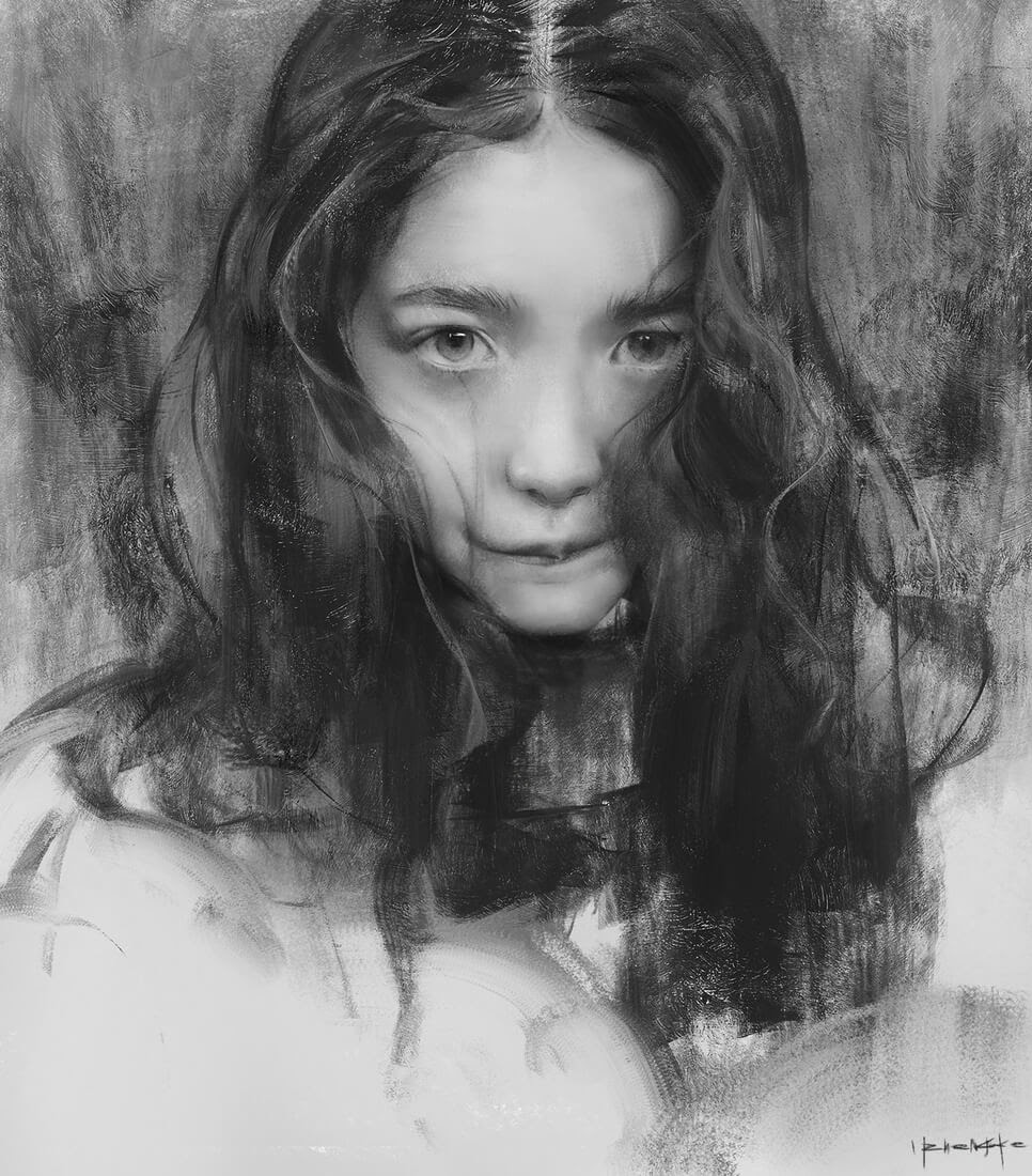 08-Yizheng-Ke-Charcoal-Portrait-Drawing-in-Different-Poses-www-designstack-co