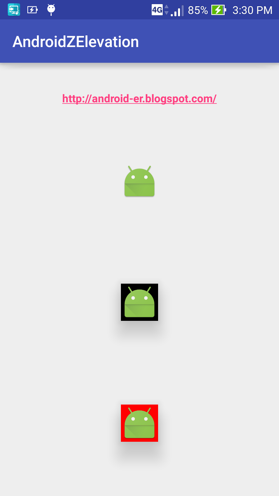 android er exle of applying android elevation on imageview