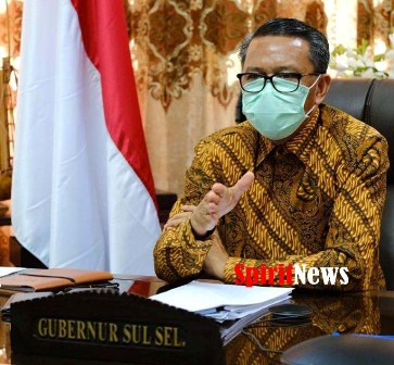 Gubernur Sulawesi Selatan, Lakukan Video Conference Dengan Sejumlah Wartawan