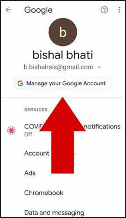 google-manage-account-kare