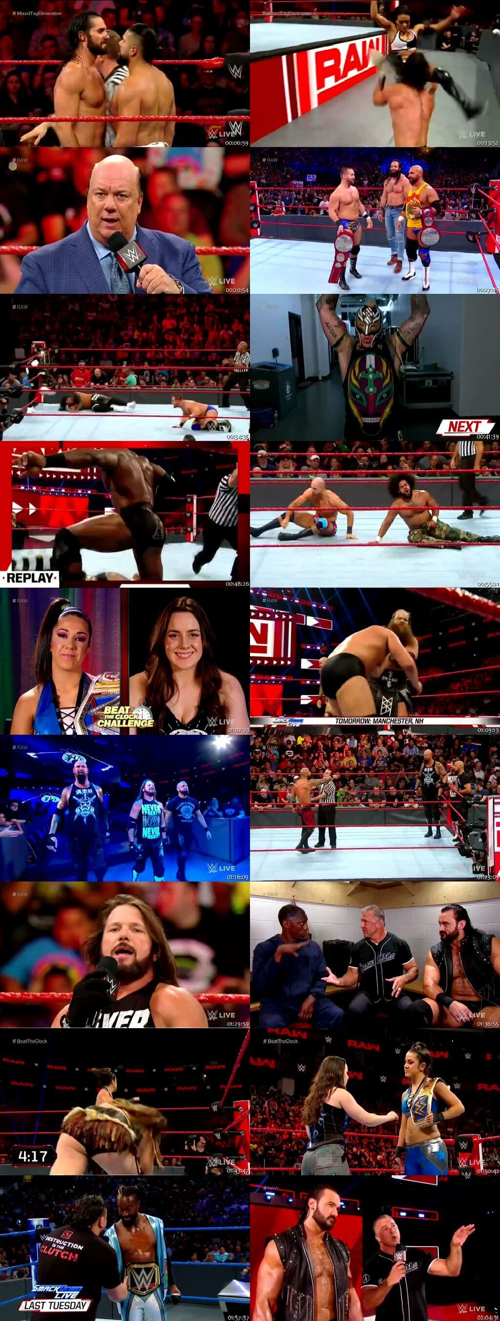 Screen Shot Of Wrestling TV Show WWE Monday Night Raw 8th July Watch Online Free Download