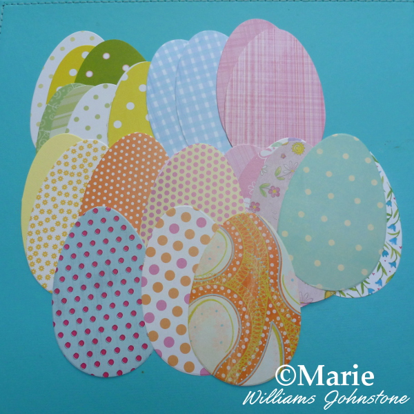 Die Cut the Paper Easter Eggs in Spring Colors Shades Bigz Sizzix Dies