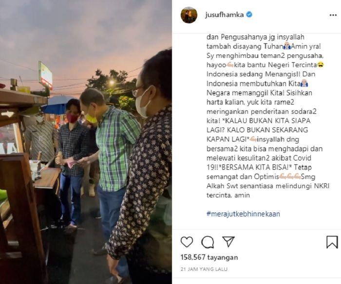 Respek! Bos Jalan Tol Tuai Pujian Usai Borong Jualan Pedagang Kaki Lima saat PPKM Darurat