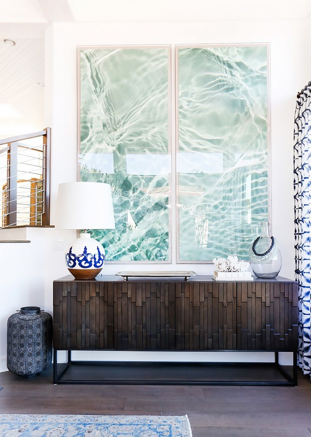 Large Art For Foyer : Coastal style sophisticated boho beachy