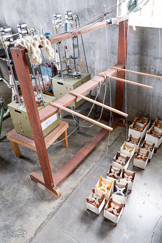 silk yarn production