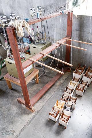silk yarn production