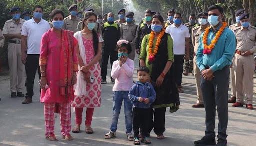 39 वी वाहिनी से 33 वी वाहिनी में हुआ स्थानांतरण,दी गई सपरिवार विदाई