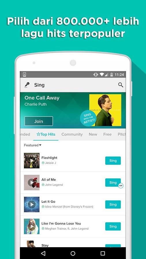 Aplikasi Sing! Karaoke by Smule 4.0.5 apk terbaru