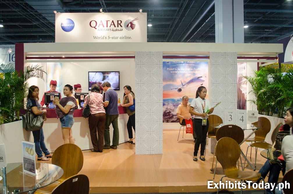 Qatar Airways Exhibit Booth