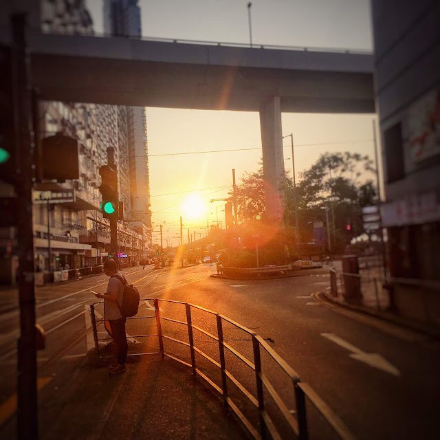 Hong Kong, Sunset, Shek Tong Tsui,   香港, 日落, 石塘咀
